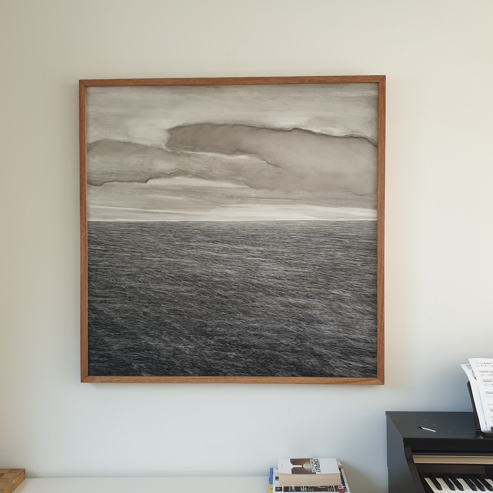 Japanese seascape, 2021, Oil on panel, 120x120cm