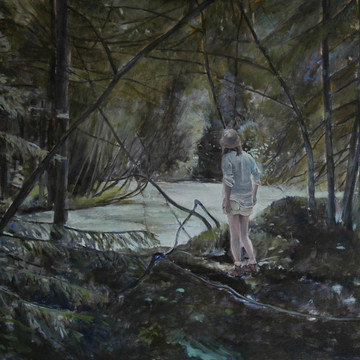 """In the woods"", 80x100cm, Oil on canvas, 2010, Private collection"