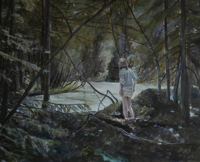 """""""In the woods"""", 80x100cm, Oil on canvas, 2010, Private collection"""