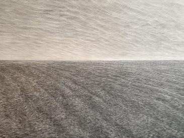 """Seascape 4 Silence"", 112x80cm, 2019 (Price: 1.500 EUR)"