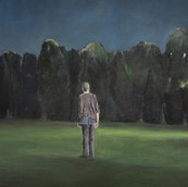 """Birnam wood"", Oil on canvas, 90x90cm, 2008, Private collection"