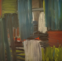 """""""Composition 214 with Greens"""" 60cx80cm, oil on canvas, 2021"""