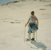 """Pyrenees "",  80x90cm , oil canvas,  2008"