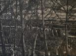 """Holzweg 5 - Looking back"", 40 x 60 cm, oil on board, 2020 (Price: 850 EUR)"