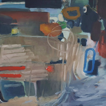 """Composition 213 Masculine Feminine"", 70 x 90 cm, Oil on canvas, 2021 (Price: 1.200 EUR)"
