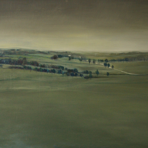 Landscape in England II, 70 x 90 cm,  Oil on canvas, 2016