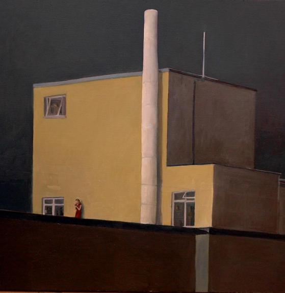 """""""Bryanston square"""" 90x90cm, oil on canvas, 2006 (Private collection)"""