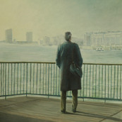 """Looking at Thames"", 90x120cm, oil canvas, Private collection"