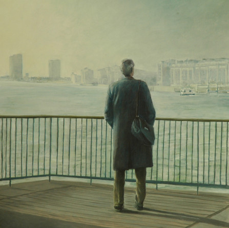 Looking at Thames, 90x120cm, oil canvas