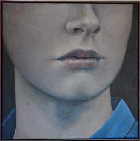 """The smile"", 100x100cm, oil canvas, 2015"