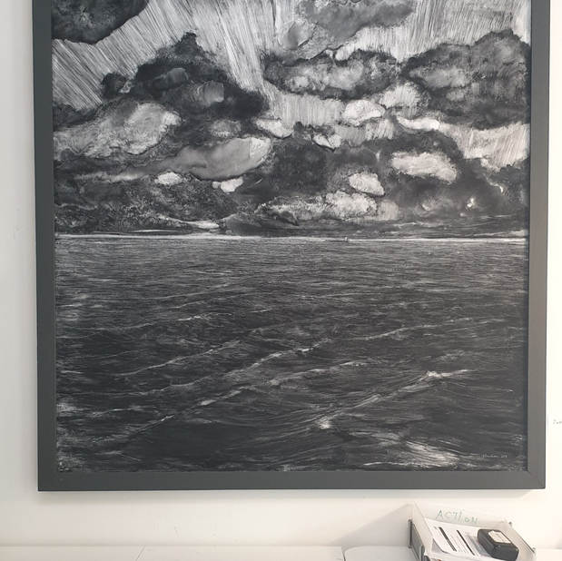 The tanker, mixed technique on board, 120x120cm, 2018