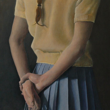 """The yellow  pullover"" , 50x60cm, Oil on canvas, 2008 (Private collection)"