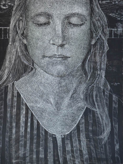 Dreaming, 60x120 cm, mixed media on board, 2017