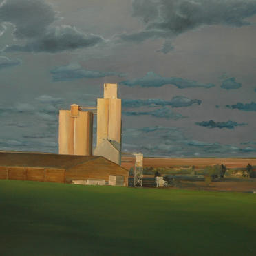 """Landscape with clouds"", 100 x 110 cm, oil on canvas, 2006"