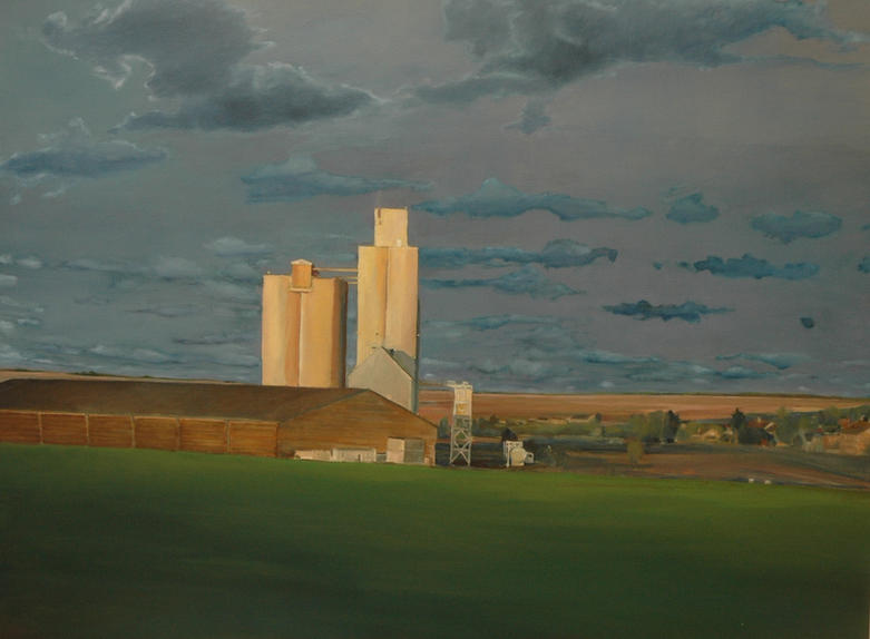 """""""Landscape with clouds"""", 100 x 110 cm, oil on canvas, 2006"""