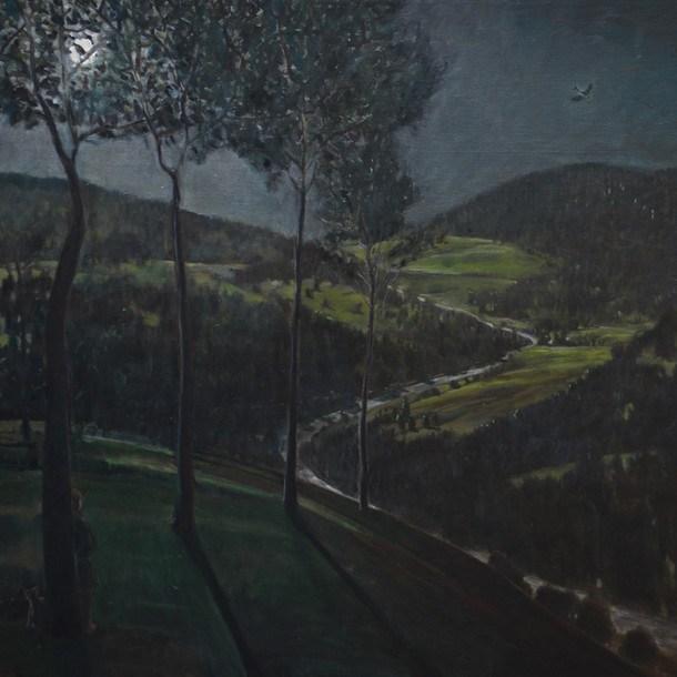 View of Scotland, 90x90cm, Oil on Canvas, 2015