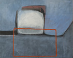 Orange rectangle, 40x50cm, oil on paper on wood, 2001 (available)