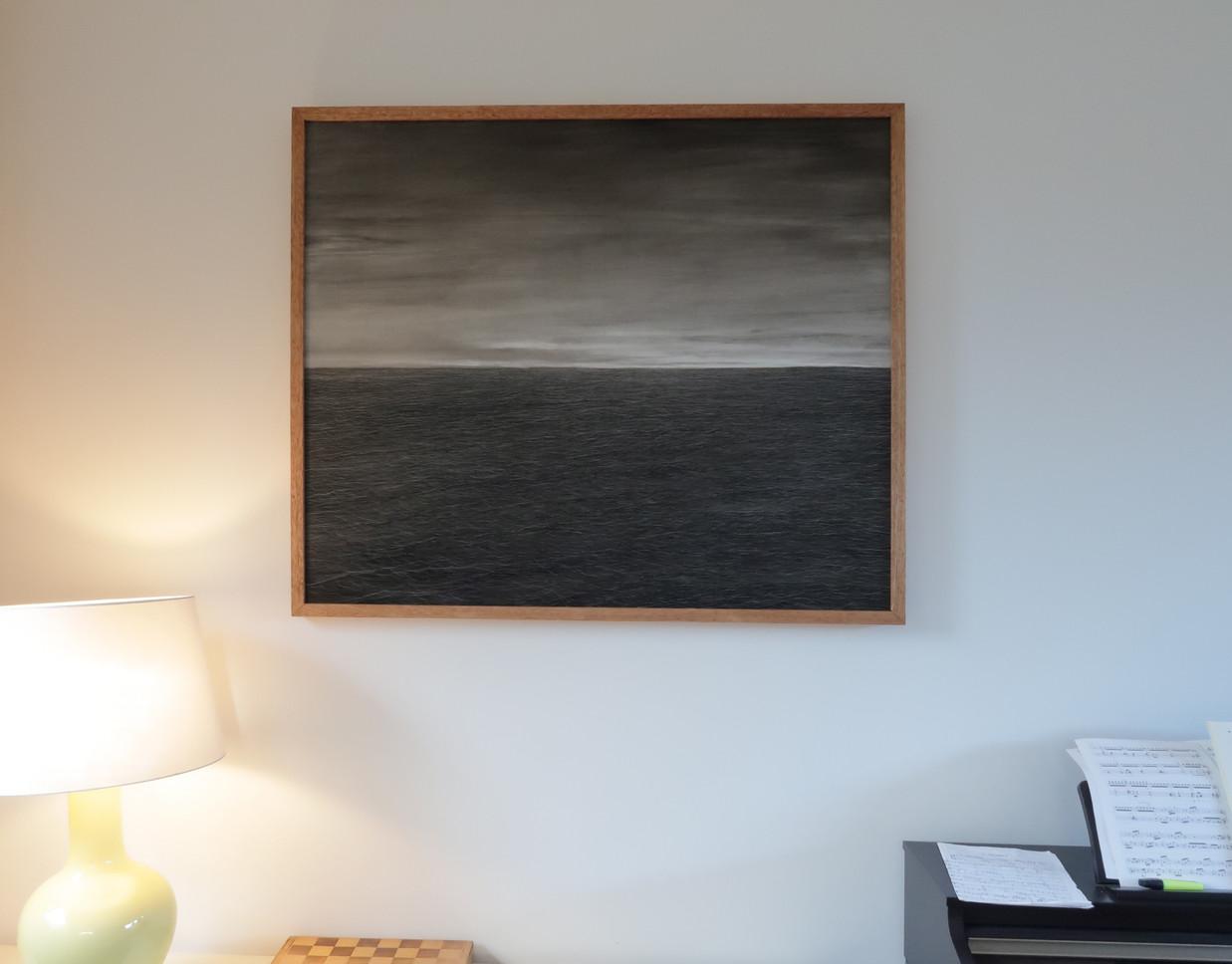 Early Morning, 2021, Oil on panel, 100x120 cm, framed.