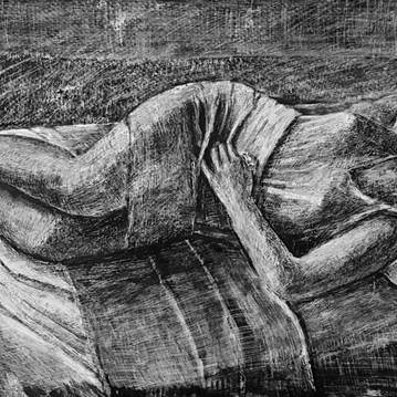 Afternoon nap, 120x60cm, mixed media on board, 2017