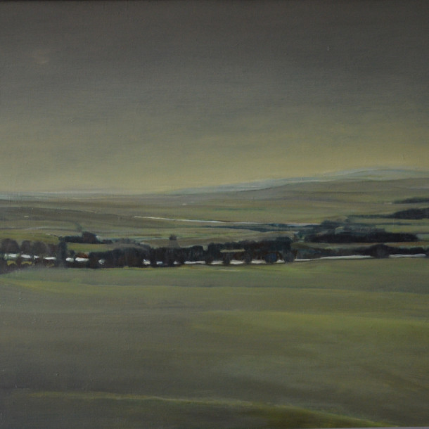 Landscape in England, 90x70 cm, oil on canavas, 2016