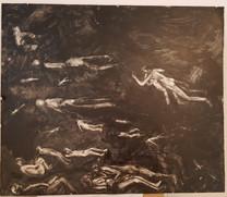 Limbo 3, 40x40cm, oil on panel, 2016