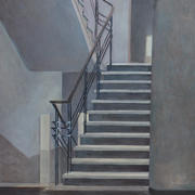 """the staircase"" 60x90cm, oil on canvas, 2014"