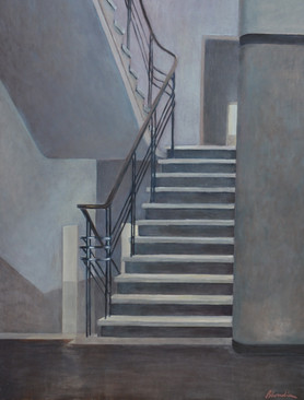 """""""A staircase"""", 90x70cm, oil on canvas, 2016"""