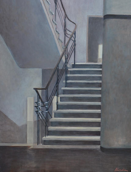 """""""the staircase"""" 60x90cm, oil on canvas, 2014"""