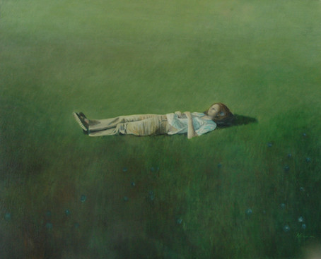 Sleeping, oil canvas, 120 x 130 cm, 2008