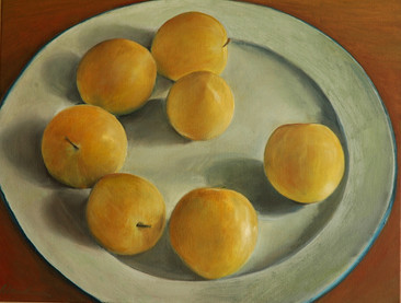 Yellow fruits, 60x50cm, Oil on Canvas, 2009
