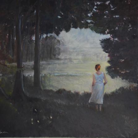 Dulwich Woods, 90x90cm, oil canvas