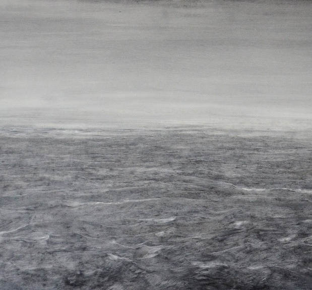 Seascape in the morning , 50x60cm, oil board, 2017
