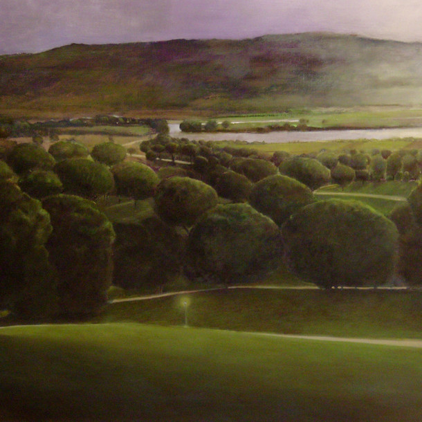 Landscape early morning, 100x130cm, oil on canvas, 2014