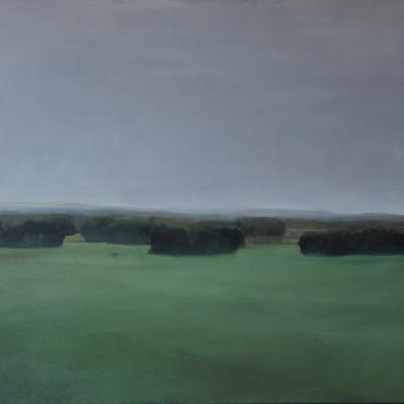 """The green landscape"", 96 x 72 cm, Oil on Canvas, 2015 (Private collection)"