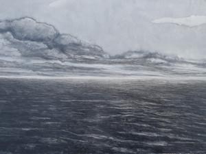 """Seascape one"", oil on board, 110x80cm, 2019 (Price: 1.300 EUR)"