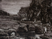 Usk Valley (Walles) 30x40cm Oil on board