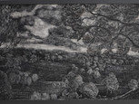 """The woolf"", 80 x 120cm, gouache on wood, 2018 (Price: 1.200 EUR)"
