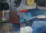 """Composition 211 blues"" 70x90cm, oil on canvas, 2021 (Available)"