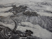 """""""Chinese mountains"""", 30x40 cm, Oil on board, 2016 (Price: 500 EUR)"""