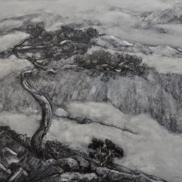 Asian landscape , 40x50cm, oil on board, 2016