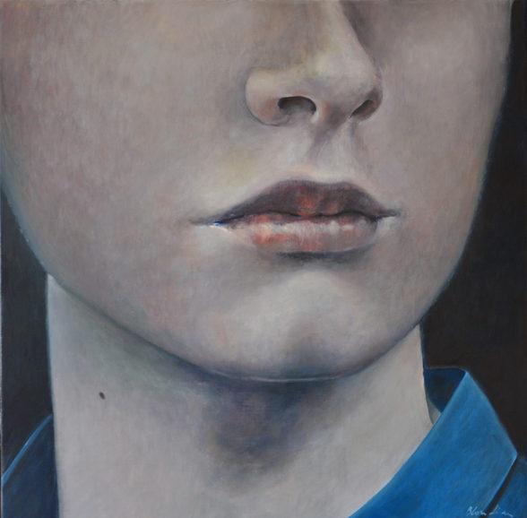"""""""The face"""", 90x90cm, oil on canvas, 2013"""