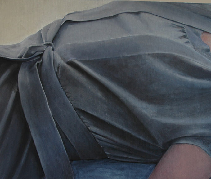 """""""The grey dress"""" 60x71cm Oil on canvas, 2010, (private collection)"""