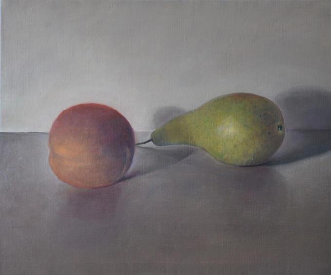 Peer Peach, 30x40cm, oil canvas, 2014