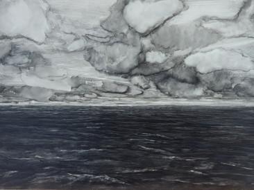 """Seascape two"", 80x110cm, oil on board, 2019 (Private collection)"