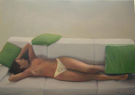 BG sleeping, 100 x 120 cm, Oil canvas, 2001