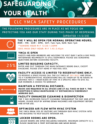 SAFEGUARDING YOUR HEALTH updated 11_2_20
