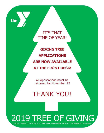 2019 Tree of Giving Flyer Application fo