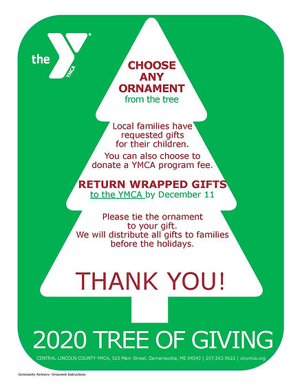 2020 Tree of Giving Flyers for Community