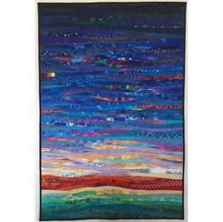 memories of summer--art quilt--ann braue