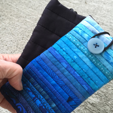 Quilted eyeglass case.